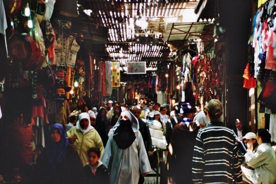 Schattig - in der Medina von Marraesch