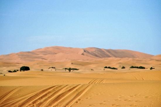 Sand wohin man schaut - Fahrradfahren war nicht immer ein Genuss