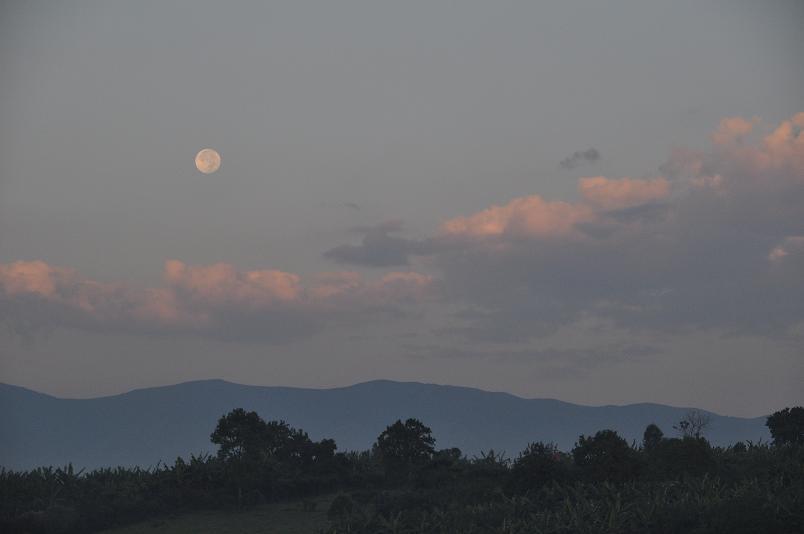 Die Ruwenzori Mountains gehoeren mit ueber 5.000 m Hoehe zu den hoechsten Bergen Afrikas.