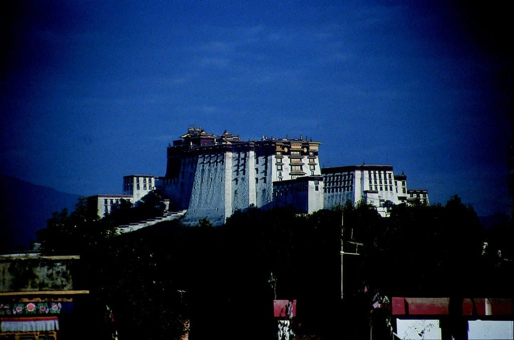 In Lhasa/Tibet am Potalla Palast