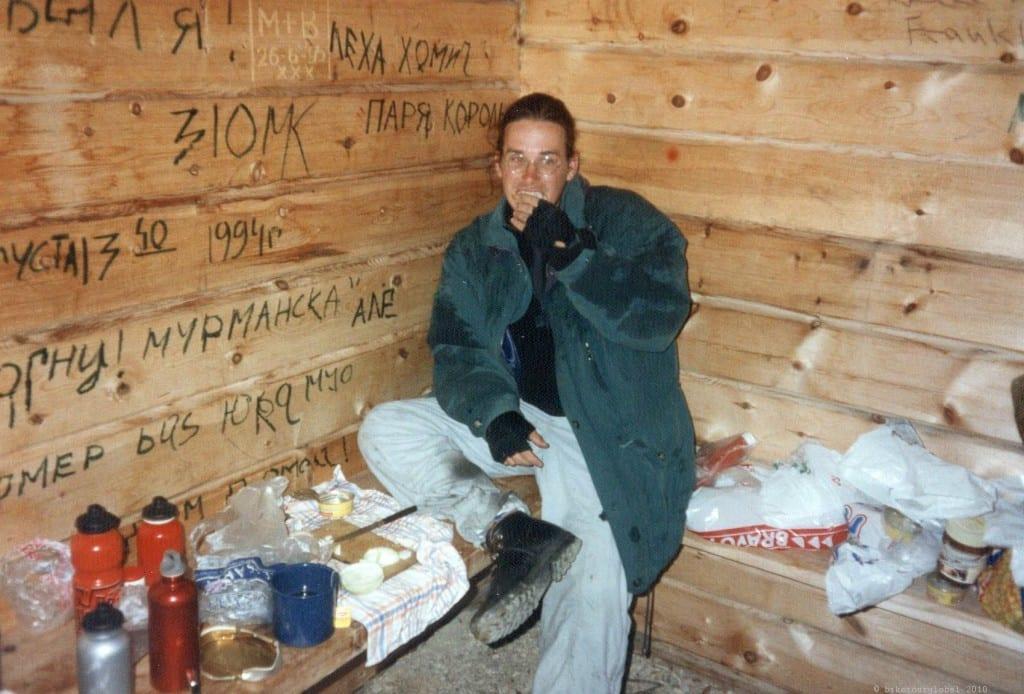 Mittagspause in einer Schutzhütte