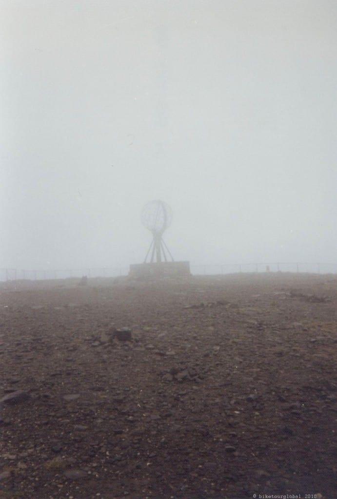 Am Nordkapp - Schnee, Eis, Nebel...