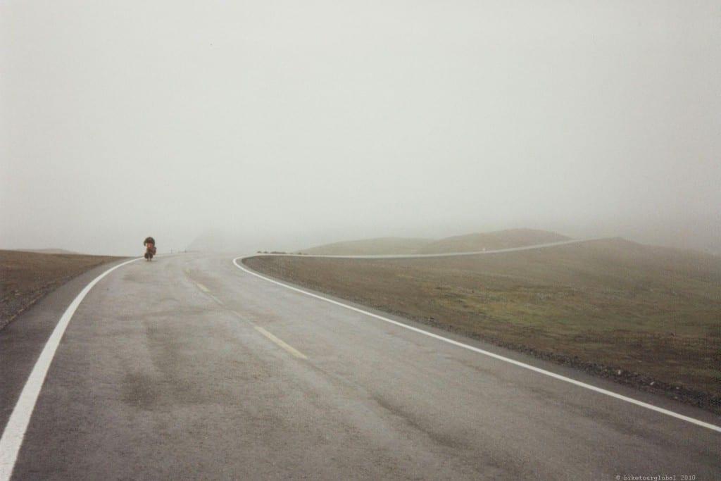 Nebel und Schnee am Nordkapp