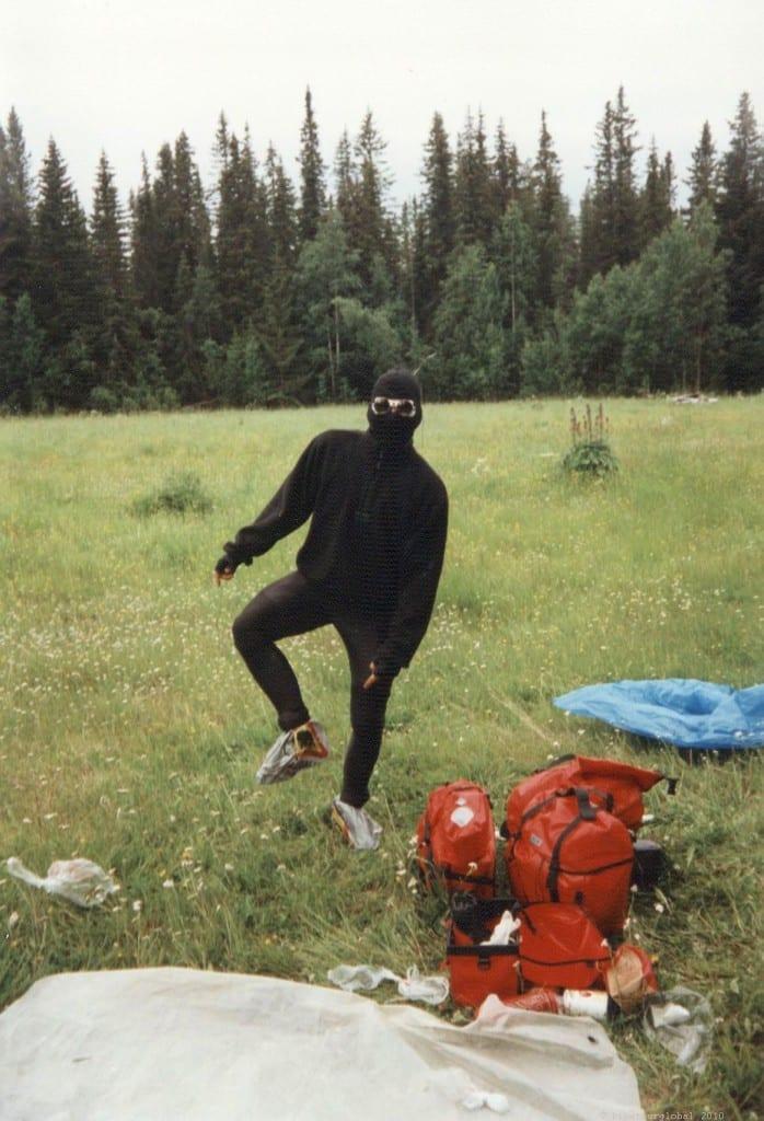 Stephan mit Mückenschutz