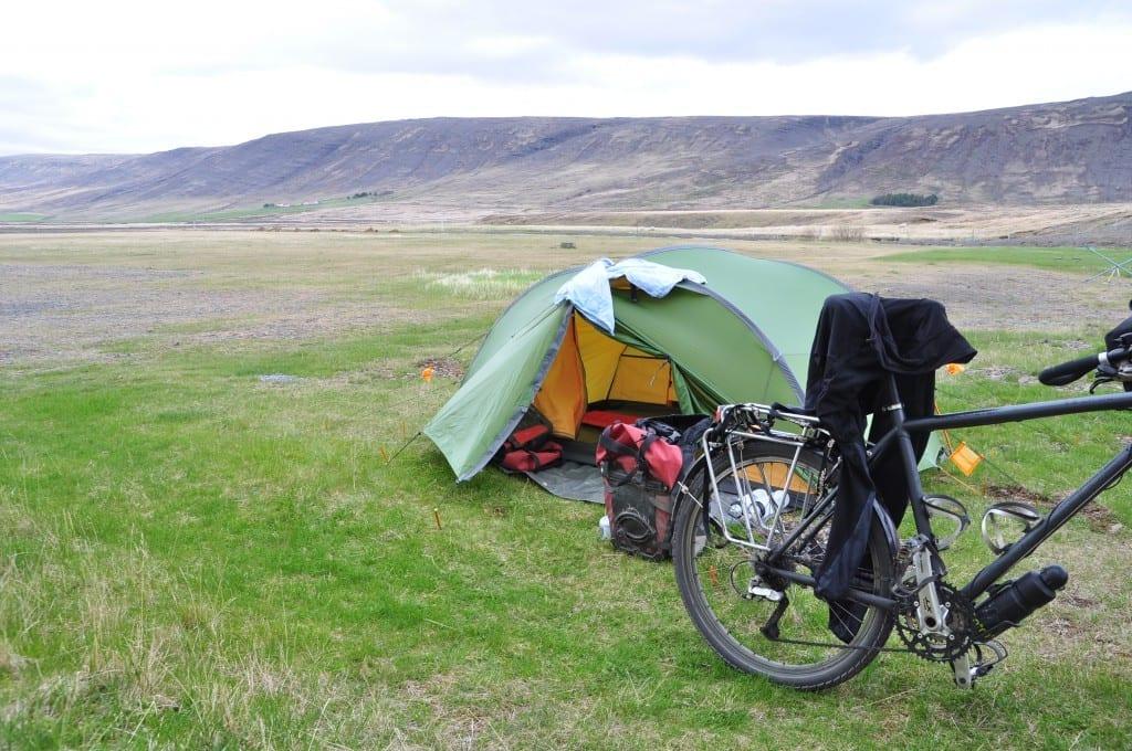 Zelt in Island