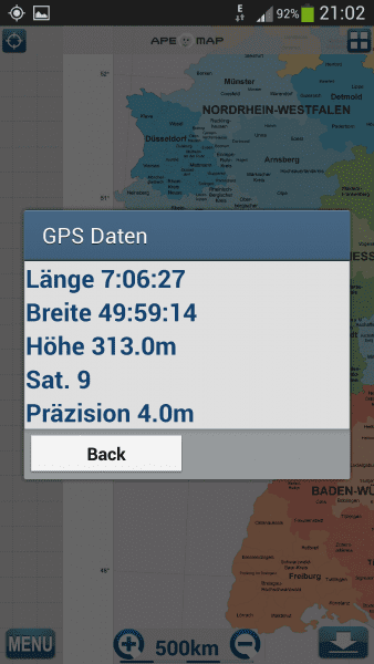 ApeMap GPS Daten
