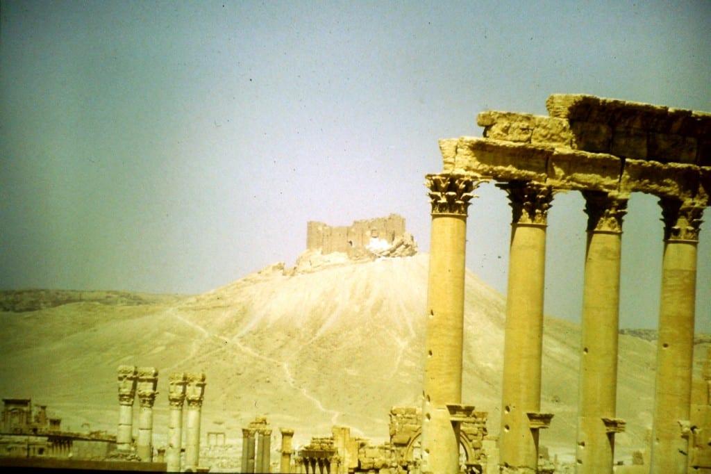 Die Ruinen einer alten Kreuzritterburg in Palmyra