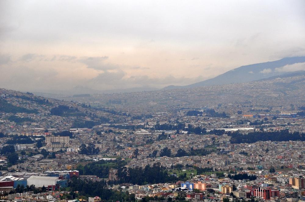 Blick auf einen Teil Quitos