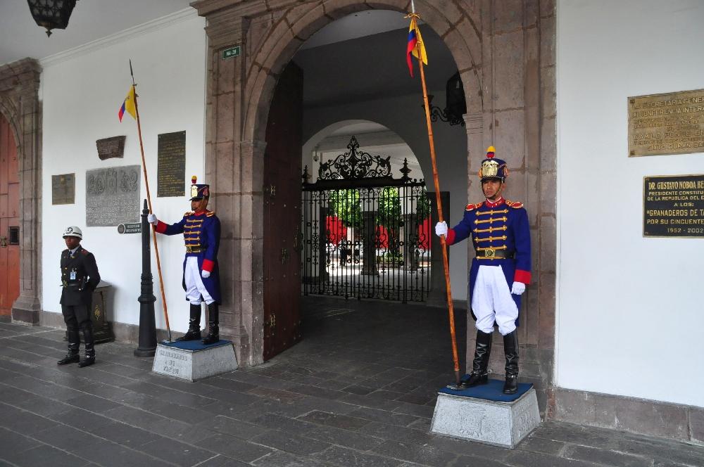 Eingang zum Präsidentenpalast
