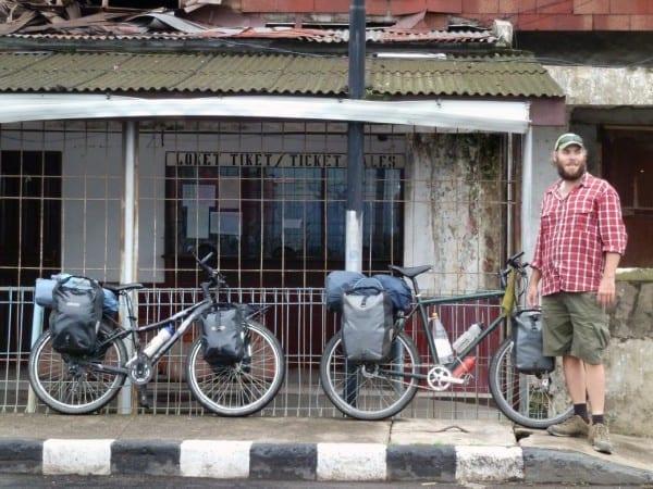 Andreas mit Fahrrad