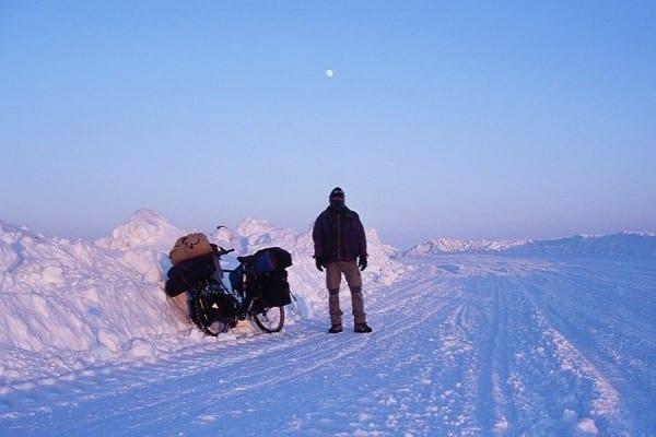 Westsibirien 2008 – Winterweg am gefrorenen Ob © www.lonelytraveller.de