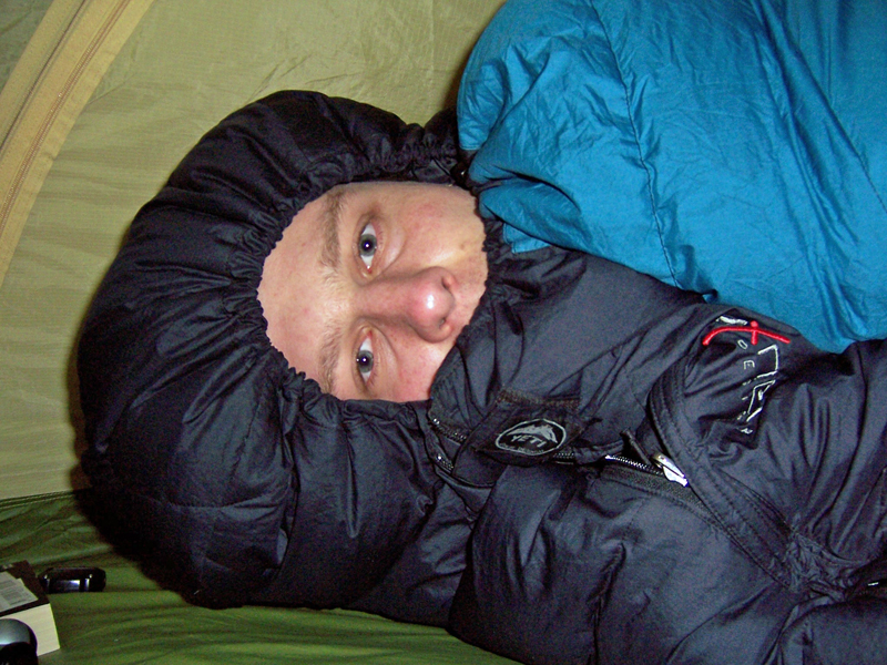 radtour im winter schlafsack
