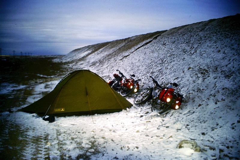 Nach dem Schneesturm im Himalaya