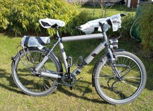 Mein Fahrrad - fertig verpackt für den Flug nach Tiflis