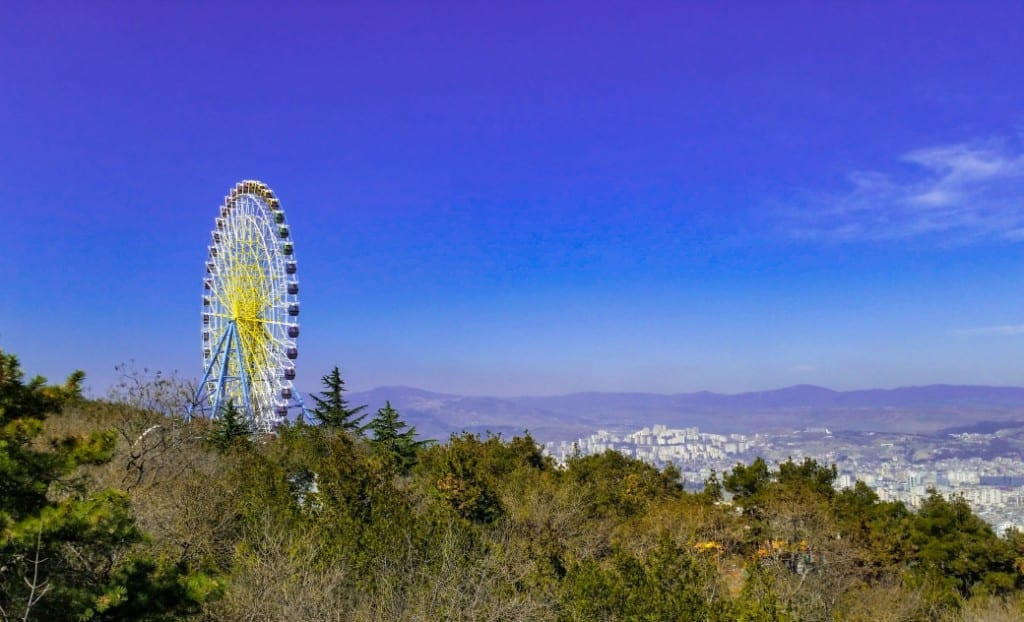 Rad über Tiflis
