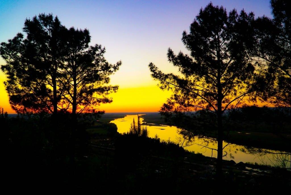 Sonnenuntergang in West-Georgien