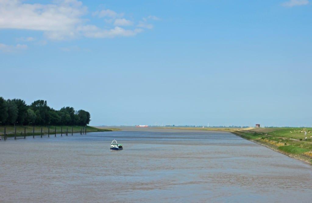 Oste-Mündung in die Elbe