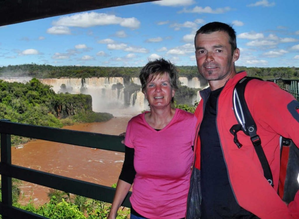 Mal ohne Fahrrad am Iguacu Wasserfall in Südbrasilien © fahrradnomaden.de