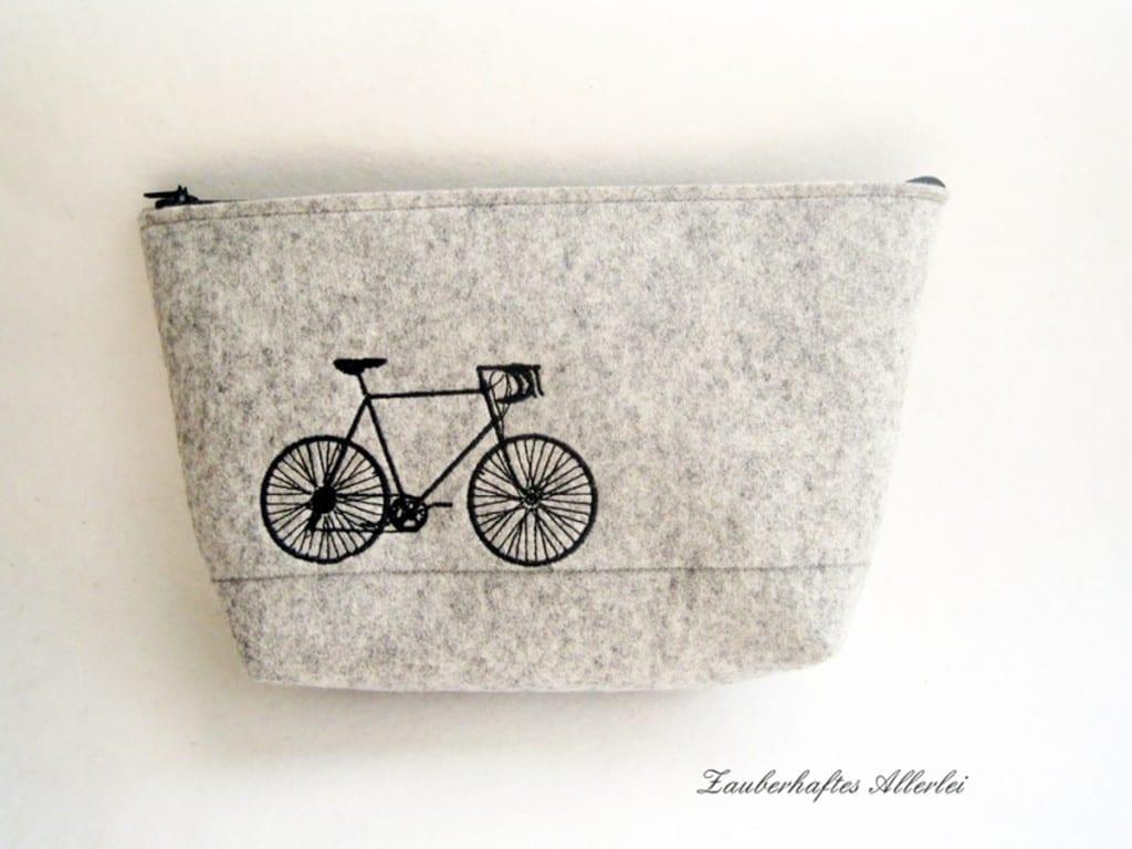 Kulturbeutel Fahrrad © Zauberhaftes Allerlei