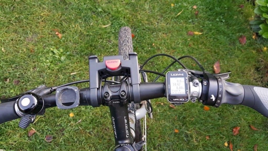 Der Lezyne Mini-GPS am Lenker