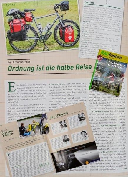 Beitrag im Radtouren Magazin 2/2016