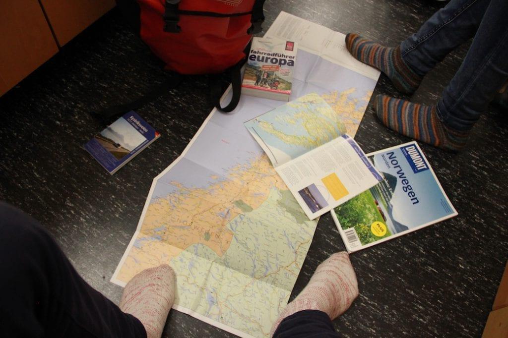 Tourplanung bei Birgit und Christiane
