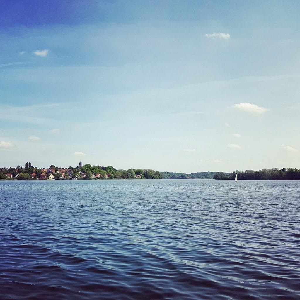 Sonne satt am Plöner See