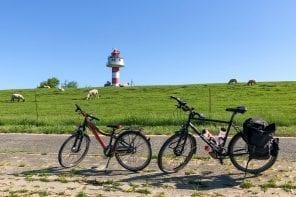 Vater und Sohn Radtour